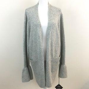 NEW Ava & Viv Grey Cardigan Open Front Cardigan 3X
